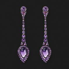 """Серьги с аметистами.  ICHIEN для """"Ювелирный1919"""" #ICHIEN #ichienjewellery #jewelry1919 #Ювелирный1919 #серьги #earring"""
