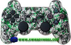 Zombie Toxic Splatter Custom Modded Dualshock 3 PS3 Controller  #zombies #zombiecontroller #zombieps3controller #kwikboymodz #customcontroller #moddedcontroller #toxicsplatter #zombieapocalypse #ps3 #ps3controller