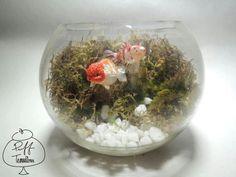 Gold Fish Terrarium  Find us on Facebook :: puff terrariums #puff #terrarium #home #work #sky #decor #decoration #plant #cactus #garden #cat #puppy #wedding #centerpiece #green #moss #gift #DIY #crafts #art #cute #jar #happy #bottle #yolo #lol #hkig