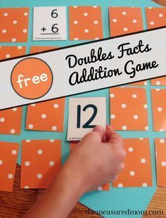 Looking for a way to practice those doubles facts?  Try this free printable doubles addition game.