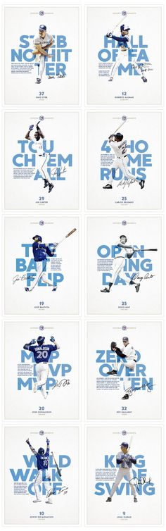 A continuing poster series celebrating iconic moments in Toronto Blue Jays Baseball franchise history.