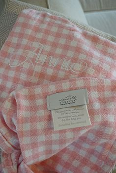 Going beyond the monogram, Swell Forever® designs heirloom gifts with unique tag customization & personalization options. Personalized Baby Blankets, Personalized Baby Gifts, White Nursery, Gingham Check, New Baby Gifts, Monograms, Grandchildren, Nursery Ideas, Good News
