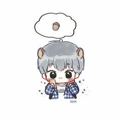 Chanbaek Fanart, Kpop Fanart, Hunhan, Exo Stickers, Anime Stickers, Exo Cartoon, Baekhyun, Exo Anime, Exo Fan Art