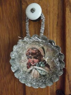Altered Tart Tin Ornament with a Vintage Flair by horsecharms, $6.00