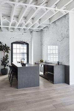 new yorker lejlighed indretning køkken marmor