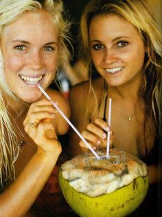 Best friends and surfing luminaries  Bethany Hamilton and Alana Blanchard - the real life inspiration for the film Soul Surfer.