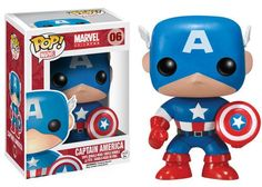 This Funko Pop! Vinyl figure stylizes the classic Captain America, the alter ego of Steve Rogers. Steve grew up during the Great Depression in the United States and his strong sense of duty and commit