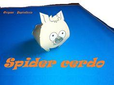 Paper Toys. Origami - Papiroflexia. Spider Cerdo.