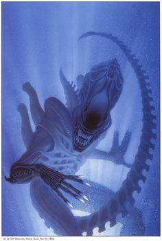 Xenomorph by Den Beauvais Alien Vs Predator, Predator Series, Predator Art, Alien Films, Aliens Movie, Alien 1979, Science Fiction, Arte Horror, Horror Art