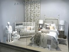 Zara Home windows, Jakarta - Indonesia the textures created by the linens and the different throws in this display is the trend.