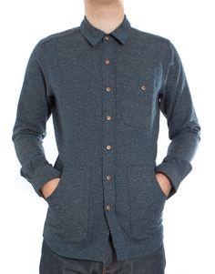 Denton Shirt in Nep Herringbone Denim