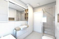 (Pruszków) Projekt mieszkania 3 - Średnia łazienka w bloku w domu jednorodzinnym bez okna, styl nowoczesny - zdjęcie od BAGUA Pracownia Architektury Wnętrz