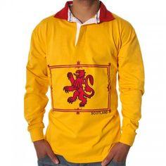 Men's Rugby Shirt, Rampant Lion,Scottish Design,Cotton