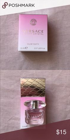 Versace Bright Crystal perfume Versace Bright Crystal .17 oz. Never used. Versace Other