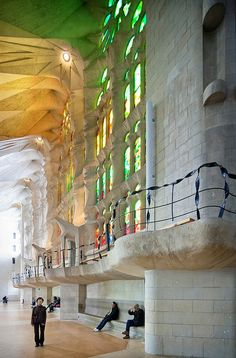 "La Sagrada Familia | Barcelona, Catalonia | Antoni Gaudi. Describing La Sagrada Família, art critic Rainer Zerbst said, ""It is probably impossible to find a church building anything like it in the entire history of art"" and Paul Goldberger called it, ""The most extraordinary personal interpretation of Gothic architecture since the Middle Ages."""