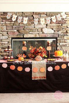 Little Pumpkin Baby Shower- http://atozebracelebrations.com/2011/09/little-pumpkin-baby-shower.html