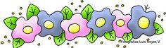 FLOWER BORDER CLIPART - CENEFAS - Marilú San Juan Ibarra - Álbuns da web do Picasa