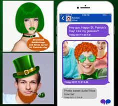 Download the Bubblelingo App and dress yourself for St. Patrick's Day now at Google Play & iTunes Google Play Store: https://play.google.com/store/apps/details?id=com.bubblelingo.bblapp&hl=en App Store: https://itunes.apple.com/us/app/free-texting-meme-builder-by-bubblelingo/id1084655999?mt=8 #StPatricksDay #holiday #contentcreator #apps #messaging #Android #iPhone #GooglePlay #iTunes #fashion #costumes #photos #StPatricksphotocliparts #cliparts #stickers