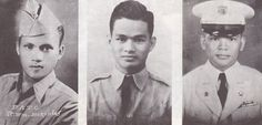 Tiano Brothers. (From left) Sgt. Nestor Tiano was killed in action in Bataan on Jan. 23, 1942. 1st Lt. Ronaldo Tiano perished in a plane crash somewhere in Panay on Jan. 24, 1950. He trained as a pilot in Randolph Field in Texas. He fought in Bataan, Visayas and Mindanao during World War II. 2nd Lt. Apollo Tiano was killed in action in the Korean War on June 21, 1952. Tiano Brothers Street used to be Calle Mindanao during the Hispanic and American eras. Bataan Death March, War Medals, Killed In Action, Prisoners Of War, Freemasonry, Korean War, God Bless America, Vietnam War, World War Ii