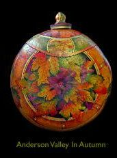 Vincent van gourd/gourd art I wonder if they used alcohol inks? Gorgeous translucent colors.(cb)