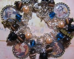 A Christmas Carol Charles Dickens Altered Art Charm Bracelet ooak ebsq One of a kind by ana9112