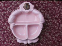 Vintage Pink Hankcraft Baby Food Warming Dish Divided Feeding Plate No Head http://etsy.me/2DkYKUP #housewares #pink #vintage #clown #teamwwes #planter #nurserydecor #bartsch #dividedplate #shopetsy #forsale #etsybaby #hankcraft #pink #shopvintage
