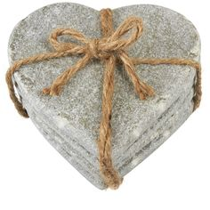Buy Set of 4 Stone Heart Coasters | Coasters | The Range