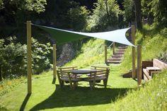 4m x 4m Ripple - Garden Shade Sail