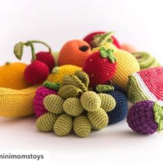 Фрукты и ягоды для детских игр и кухонного интерьера! Repost from @minimomstoys: #crochet #vegetables #handmade #ecofriendly #toy #baby #etsy #etsyseller #etsyfinds #fruit #crochetfood #education #nice #cute #birthdaygift #girl #gift #newborn #Minimomstoys #fruit #crochetlove #instacrochet #crocheting #instahandmade #crochetfruit #30weeks #pregnancy #Minimoms #25weeks #amigurumi by villy_vanilly_shop