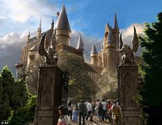Hogwarts Castle welcomes visitors to Universal's new theme park 'The Wizarding World of Harry Potter' - January 2013