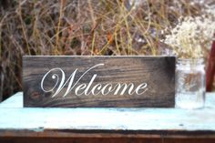 Rustic Welcome Sign Rustic Sign Sign Reclaimed by MintageDesigns, $19.00