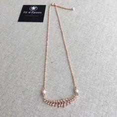 Collier  Diane Swarovski, Palladium, Diane, Rose, Wedding Jewelry, Creations, Gold Necklace, Facebook, Art