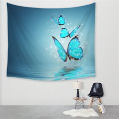This is a beautiful Butterfly Tapestry. This Tapestry is an awesome centerpiece for any space, you can use it as a tablecloth or picnic blanket as well! Bohemian Tapestry, Mandala Tapestry, Colorful Tapestry, Interior Decorating, Interior Design, Decorating Ideas, Decor Ideas, Sales And Marketing, Wall Art Designs