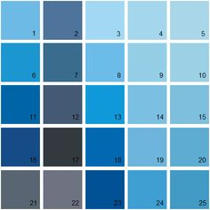 Benjamin Moore Blue House Paint Colors - Palette 15