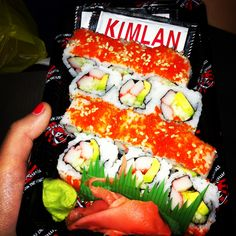 Jackie: This and my other picture represents kosher because this is kosher sushi the crab in the sushi is mock crab.