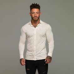 #FatherSons Jersey Shirts ~ Stretch Cotton Slim Fit | Link in bio   Model @mrashleycain  @3dgphoto  Size: Large - 90kg  #SuperSlim #Stretch #Classic #Shirts #Exclusive #Menswear #Clothing #SlimFit #Unique #Detail #Fashion #Formal #Casual #NewArrival #SlimFit #Fitted #Black #ShortSleeve #LongSleeve #FatherSons #Father #Sons #Tatts #Ink #Inked #Gym #Fitness #Jersey #Tshirts #Polo #Tops