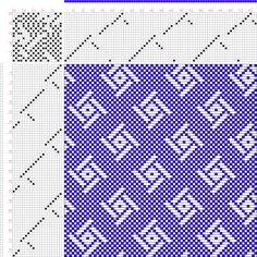 draft image: Figure 688, A Handbook of Weaves by G. H. Oelsner, 20S, 20T