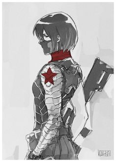 Mikasa as Winter soldier Armin, Levi Mikasa, Rivamika, Attack On Titan Art, Bucky And Steve, Another Anime, Fanart, A Beast, Cosplay