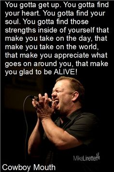Cowboy mouth...saw them at Jazz Fest...what an awesome show
