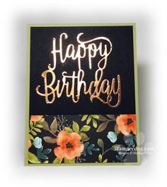 Nice and Easy Card Wins (Stamper Dog Card Ideas) Birthday Cards For Women, Handmade Birthday Cards, Happy Birthday Cards, Greeting Cards Handmade, Easy Handmade Cards, Card Birthday, Birthday Images, Birthday Quotes, Birthday Greetings