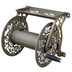 Liberty Garden Products Decorative Non-Rust Cast Aluminum Wall Mounted Garden Hose Reel With 125-Foot Capacity - Antique Finish 704 $79.97