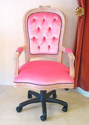 shabby chic swivel chair | refurbished vintage furniture