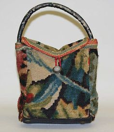 Carpetbag: 1850-1875, American (probably), wool.