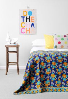 Colourful bedroom.