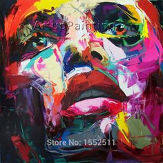 >> Click to Buy << Palette knife painting portrait Palette knife Face Oil painting Impasto figure on canvas Hand painted Francoise Nielly 15-23 #Affiliate