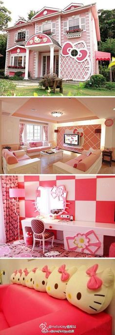 Hello Kitty's HOME. Maybe too much, but I am allowed to have a tacky side ...