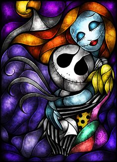 Nightmare Before Christmas.Maybe Stained Glass? She has two new posters on her wall right now for the Nightmare before Christmas Disney Stained Glass, Stained Glass Christmas, Christmas Art, Art Disney, Disney Love, Nightmare Before Christmas, Sally Nightmare, Ouvrages D'art, Jack And Sally