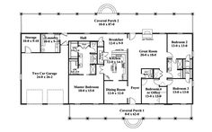 one story ranch style house plans | Traditional House Plan First Floor - 028D-0072 | House Plans and More