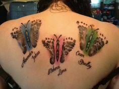 Butterfly- Childrens feet
