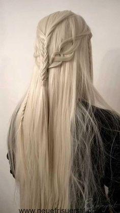 Verschiedene Haar-Zöpfe Stil